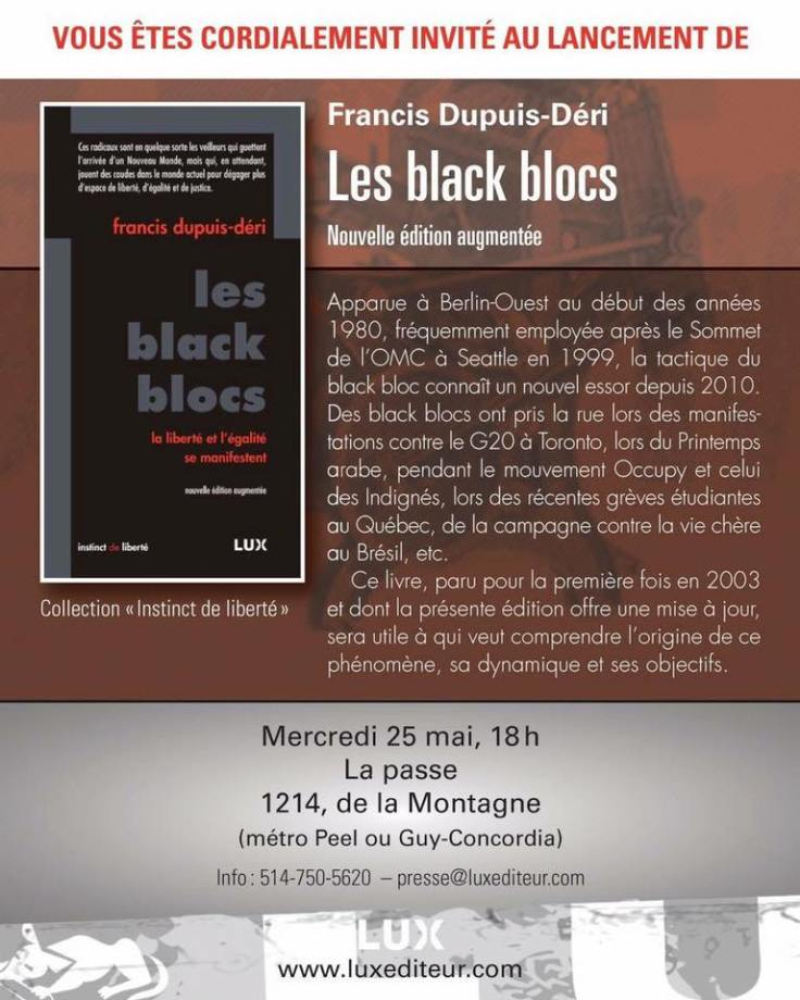 Lancement « Les blacks blocs »